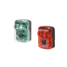 blinking lightset FORCE POINT USB front w+rear red