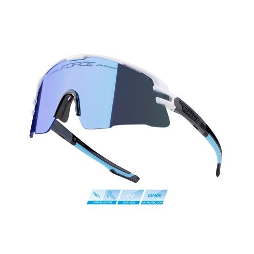 brýle FORCE AMBIENT,bílo-šedo-černá,modré zrc.skla