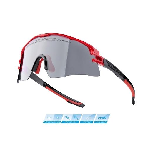 brýle FORCE AMBIENT, červeno-šedé, fotochrom. skla