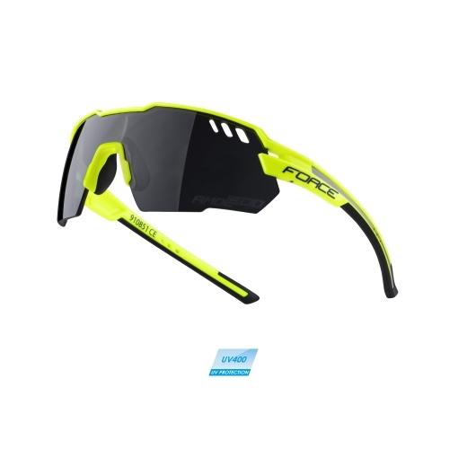 brýle FORCE AMOLEDO, fluo-šedé, černá skla