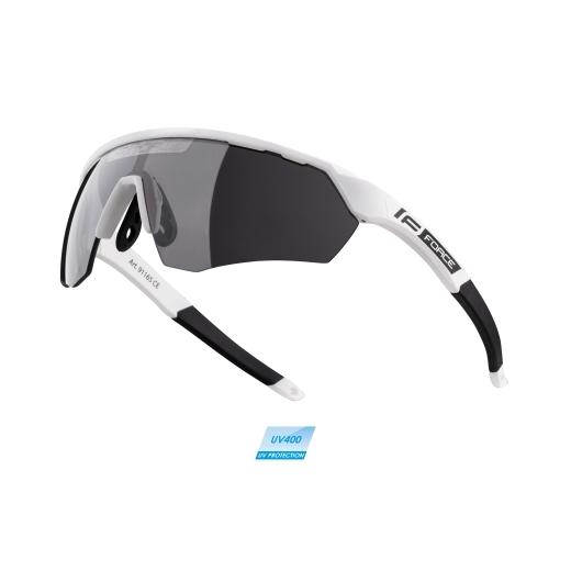 brýle FORCE ENIGMA bílé mat., černá skla