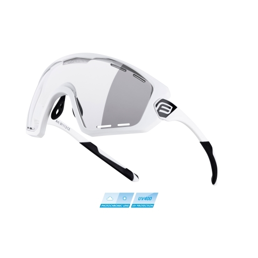 brýle FORCE OMBRO PLUS bílé mat., fotochrom. skla