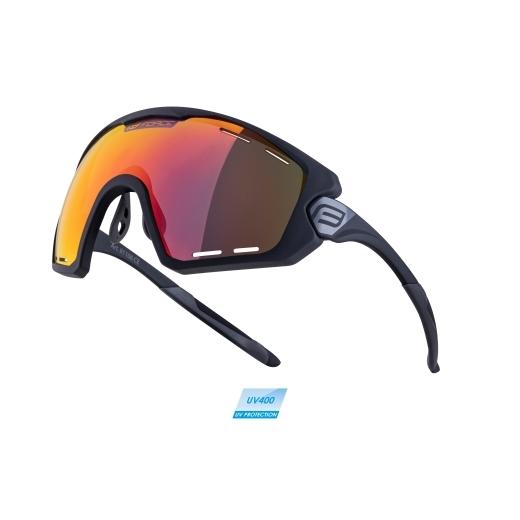 brýle FORCE OMBRO PLUS černé mat., červená skla