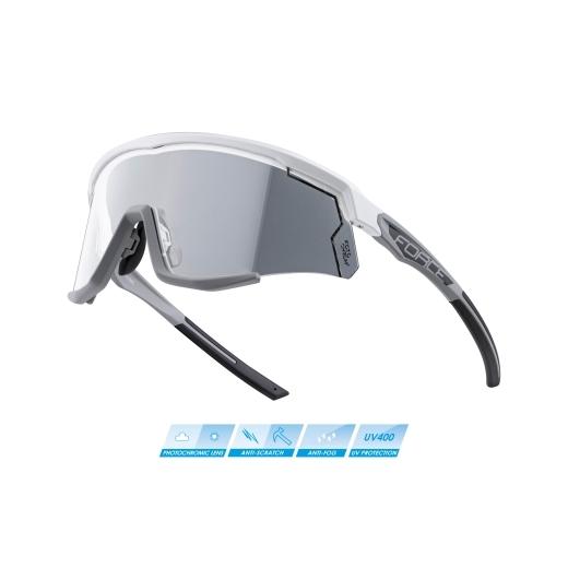 brýle FORCE SONIC bílo-šedé, fotochromatická skla