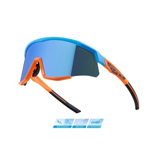 brýle FORCE SONIC modro-oranž., modrá zrc. skla