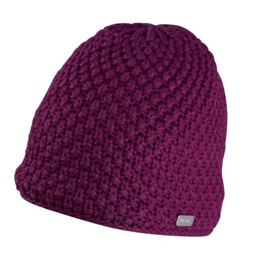 čepice zimní FORCE GLEE, pletená, fialová