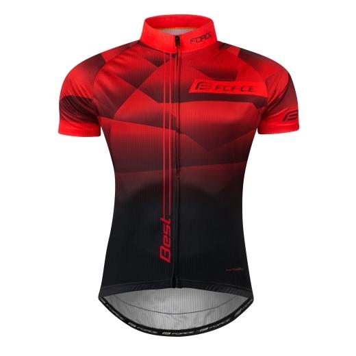 dres FORCE BEST krátký rukáv,červeno-černý
