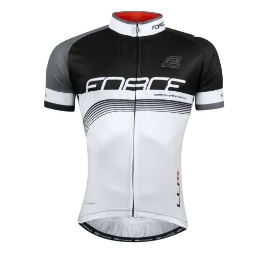 dres FORCE LUX krátký rukáv černo-bílý