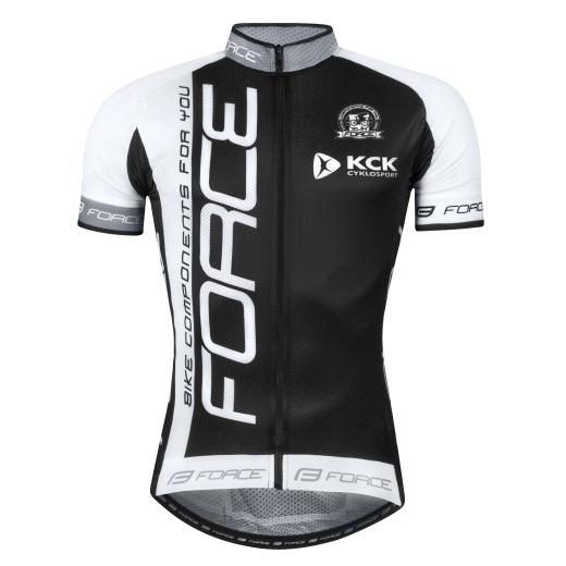 dres FORCE TEAM18 krátký rukáv  černo-bílý