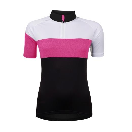 dres FORCE VIEW LADY kr. rukáv,černo-bílo-růžový