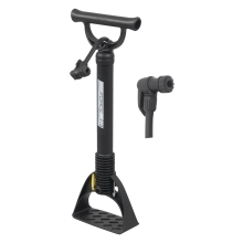 floor pump FORCE ECON plastic, black