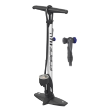 floor pump FORCE HOBBY Al 11 bar, silver