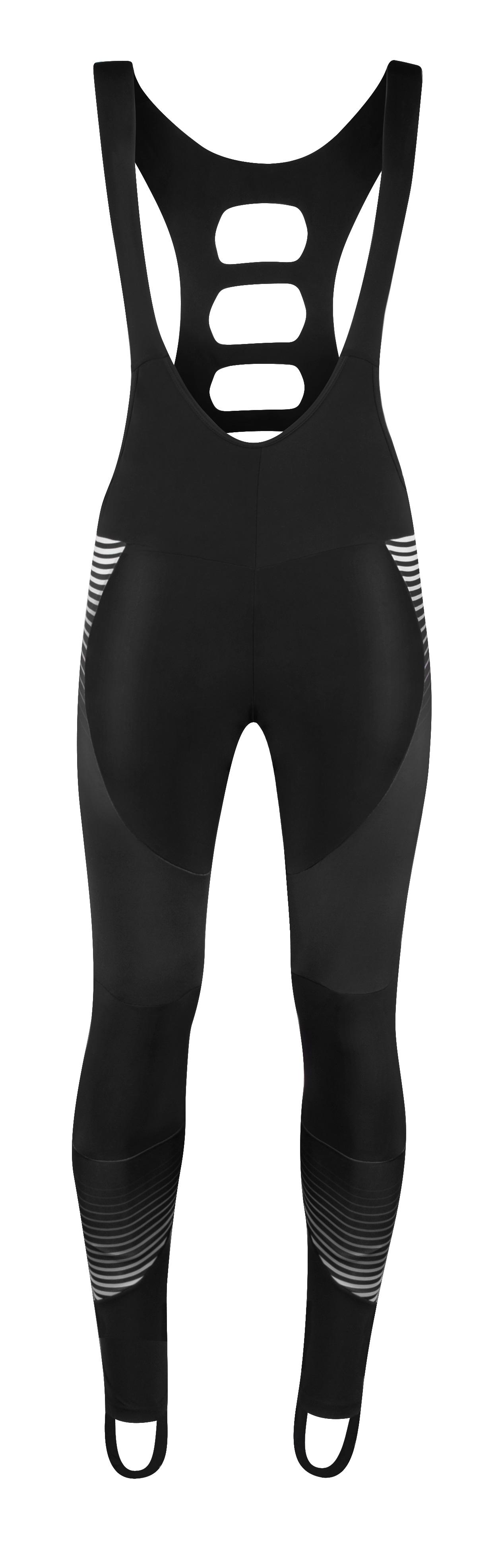 kalhoty FORCE DRIFT se šráky bez vložky,černé XXXL