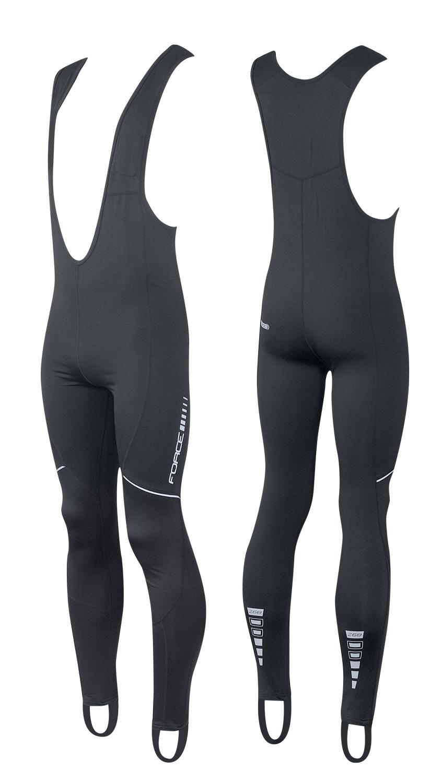 kalhoty FORCE Z68 se šráky bez vložky, černé XS