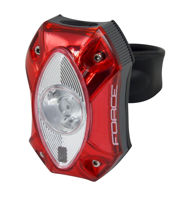 blikačka zadní FORCE RED, 1 CREE LED 60LM, USB