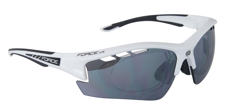 brýle F RIDE PRO bílé diop.klip,černá laser skla