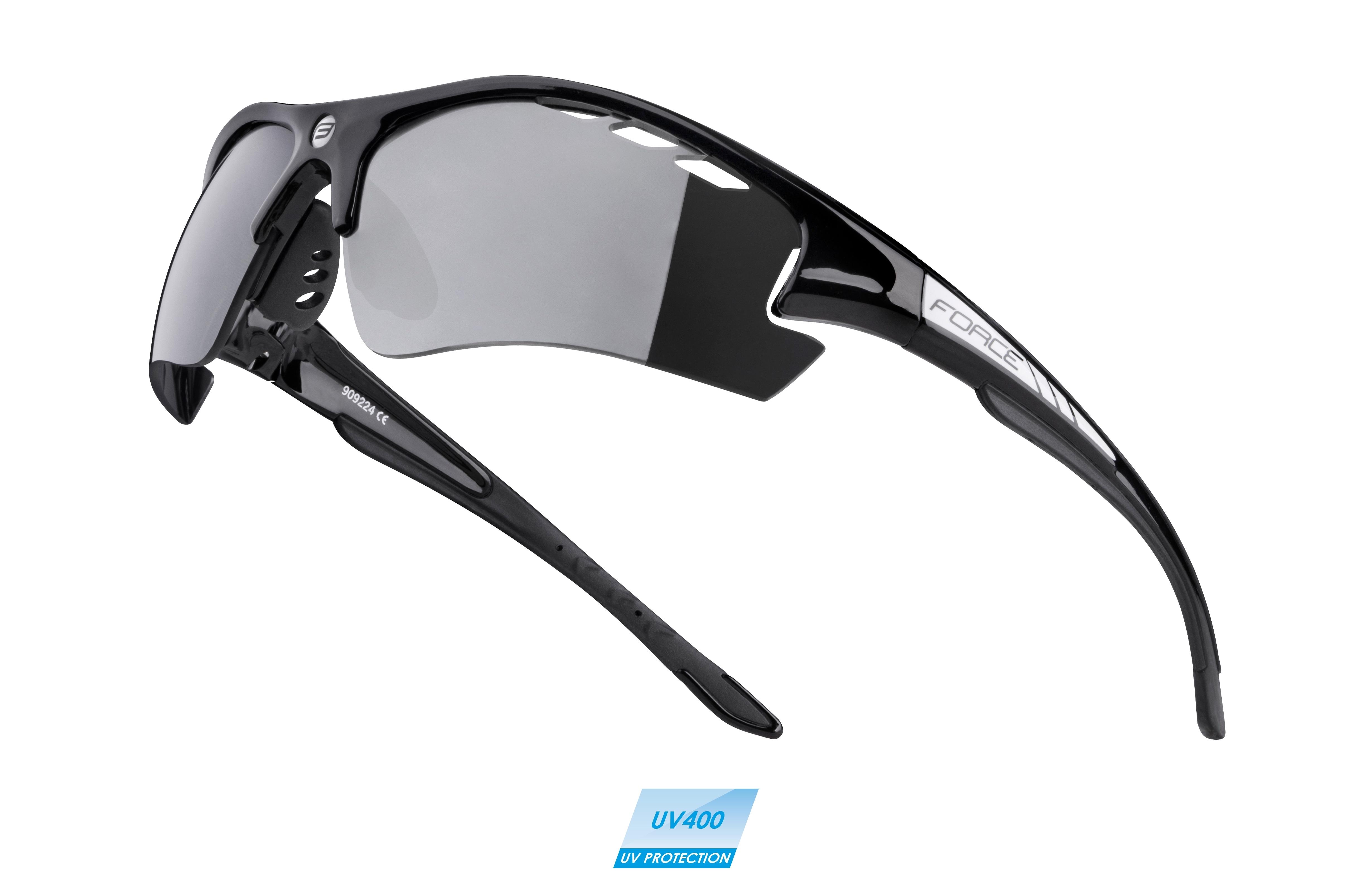 brýle F RIDE PRO černé diop.klip,černá laser skla
