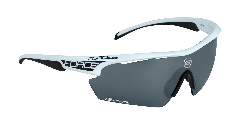 brýle FORCE AEON, bílo-černé, černé laser skla