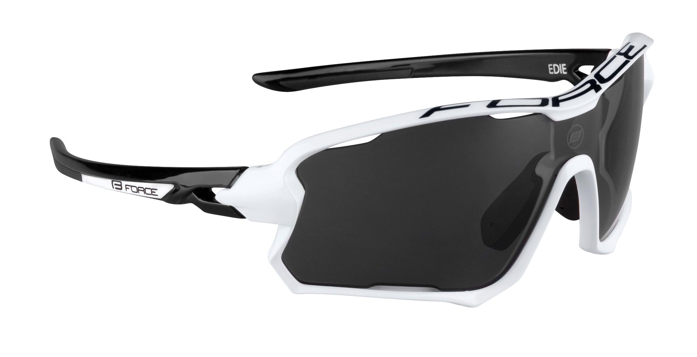 brýle FORCE EDIE, bílo-černé, černé skla