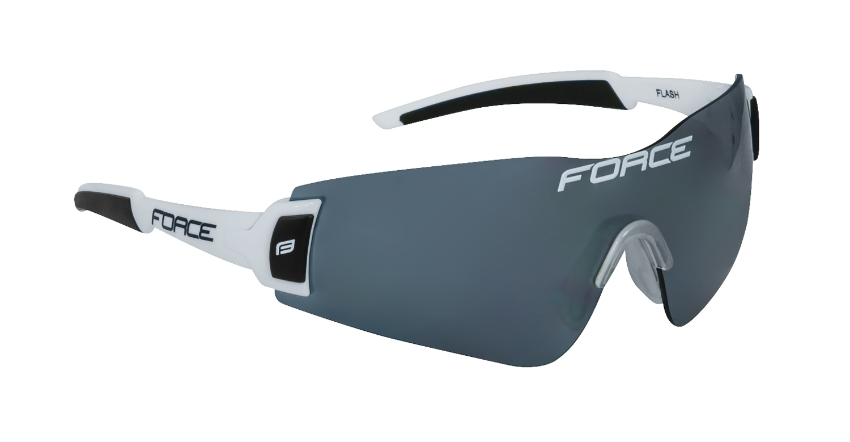 brýle FORCE FLASH, bílo-černé, černé skla
