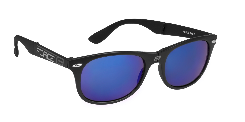 brýle FORCE FLEX černo-šedé, modrá laser skla