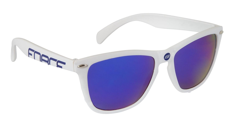 brýle FORCE FREE bílé, modrá laser skla