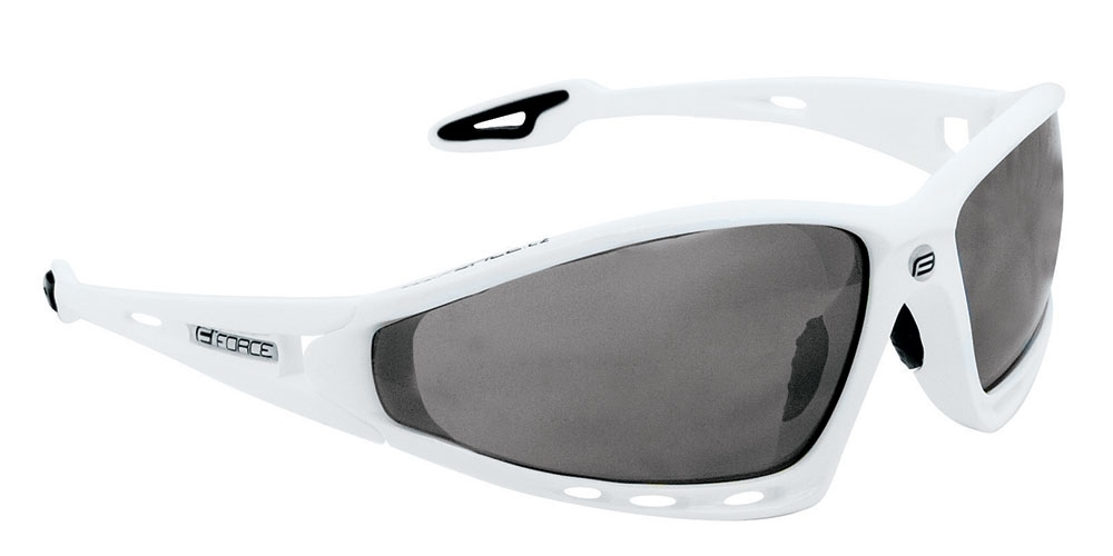 brýle FORCE PRO bílé, černá laser skla - AKCE
