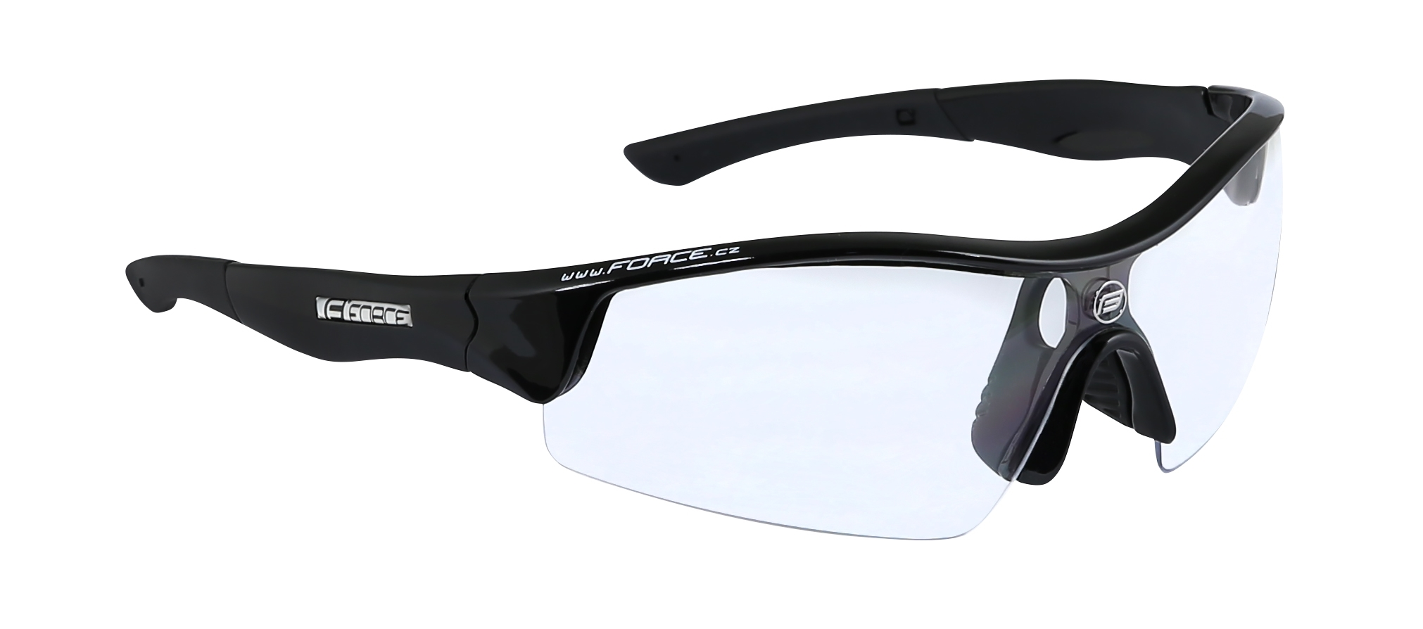 brýle FORCE RACE černé, čirá skla - AKCE