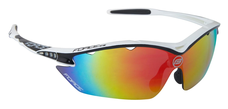brýle FORCE RON bílo-černé, multilaser skla