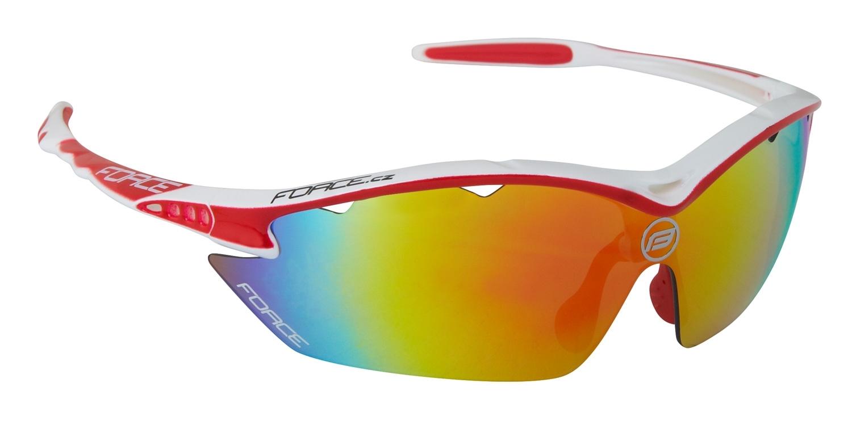 brýle FORCE RON bílo-červené, multilaser skla