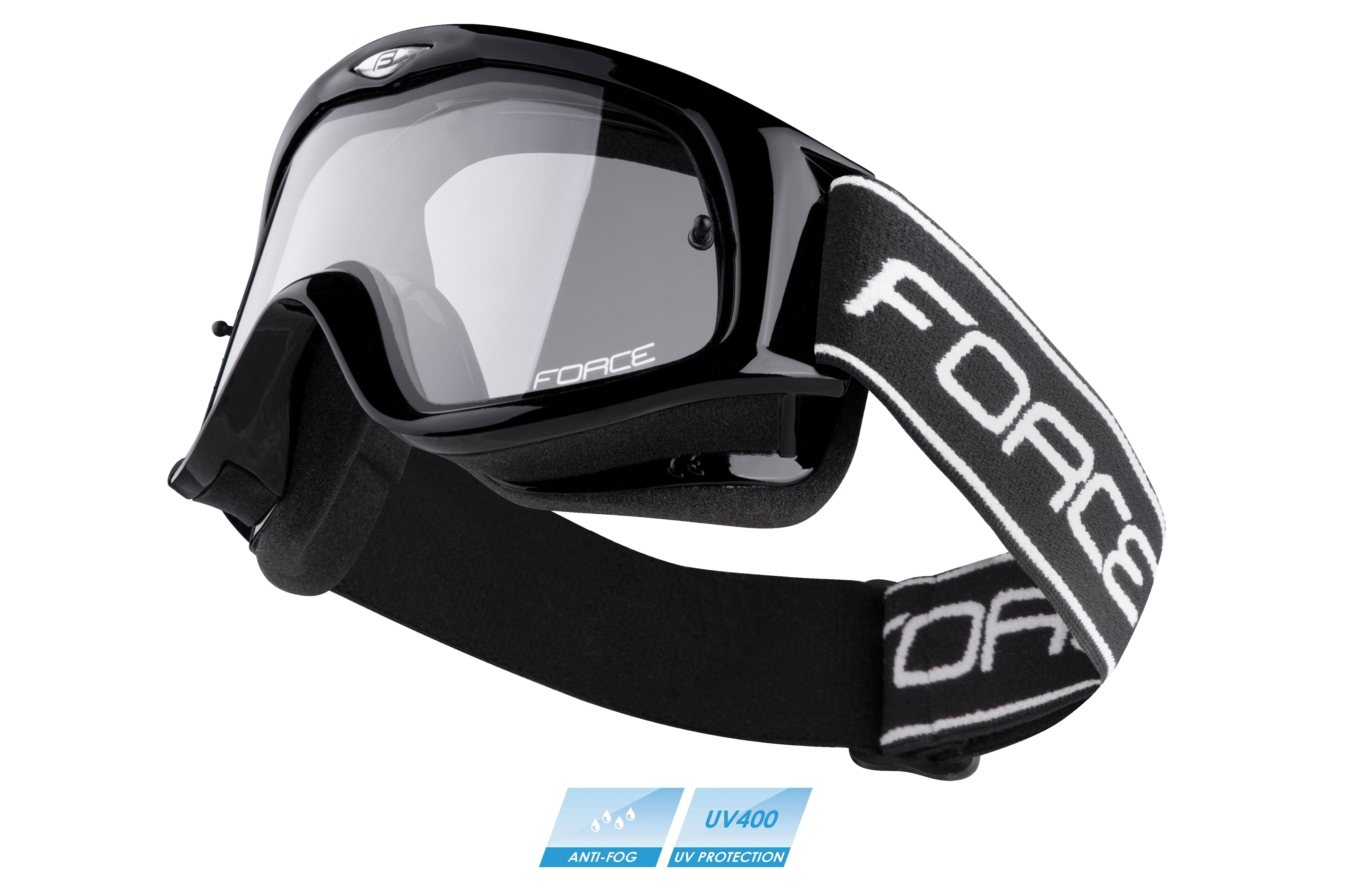 brýle FORCE sjezdové černé, čiré sklo
