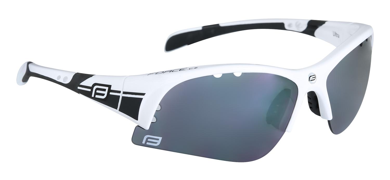 brýle FORCE ULTRA bílé, černá laser skla 2018