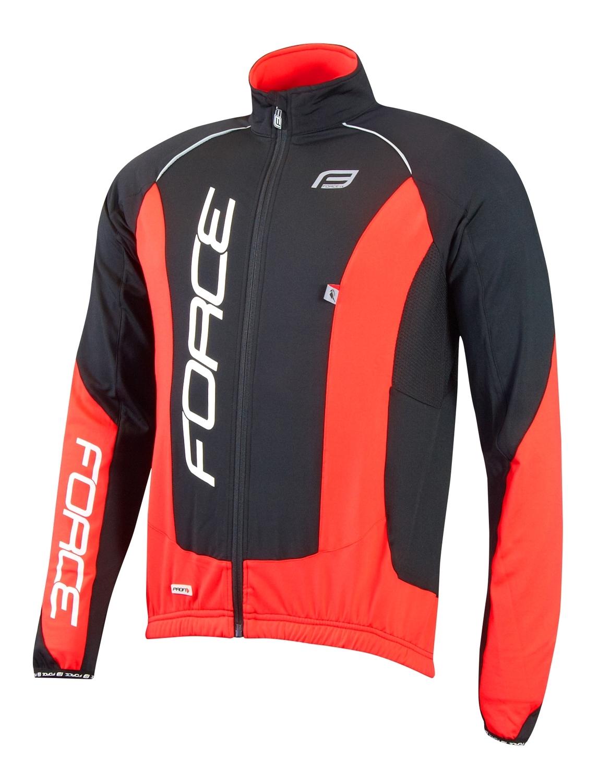 bunda/dres FORCE dlouhý rukáv X68 PRO černo-červená