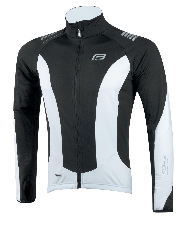 bunda/dres FORCE dlouhý rukáv X68, černo-bílá S
