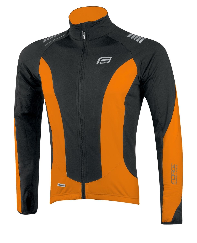 bunda/dres FORCE dlouhý rukáv X68 černo-oranžová