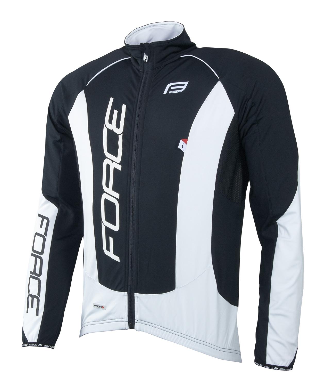 bunda/dres FORCEdlouhý rukáv X68 PRO,černo-bílá XL