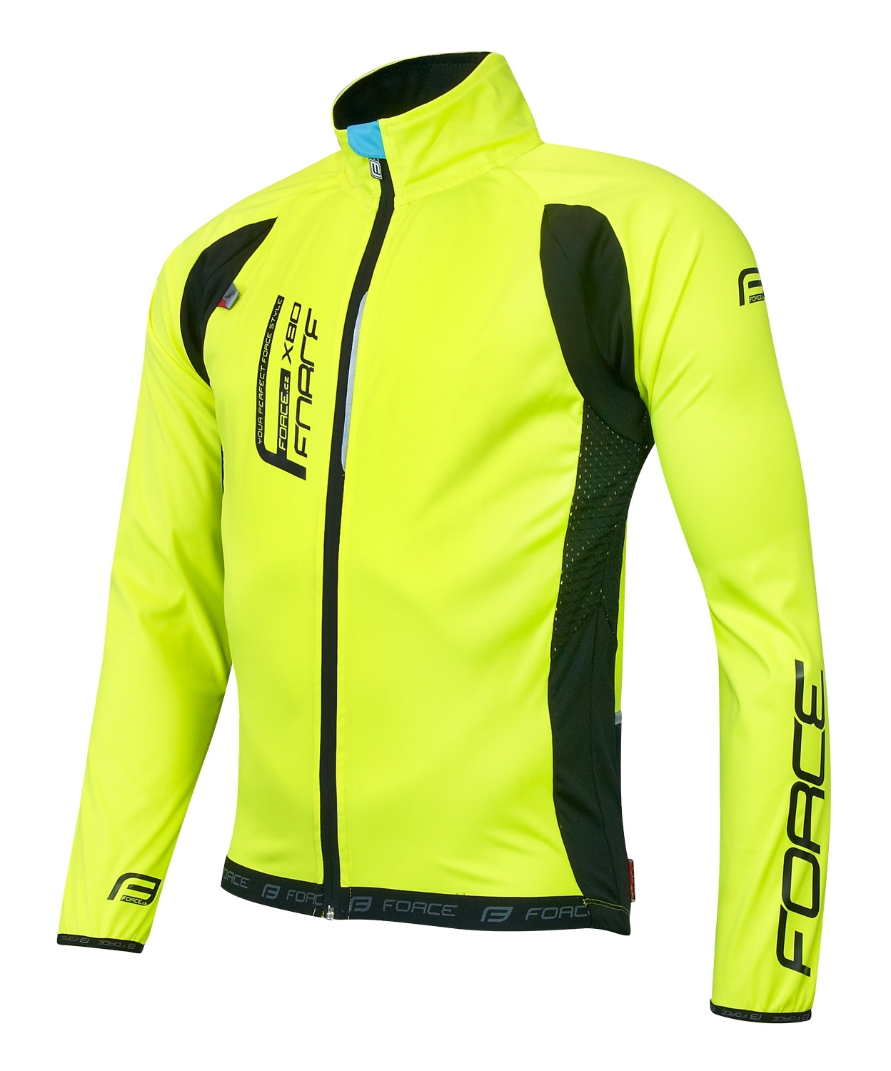 bunda FORCE X80 tenký softshell - UNI  fluo
