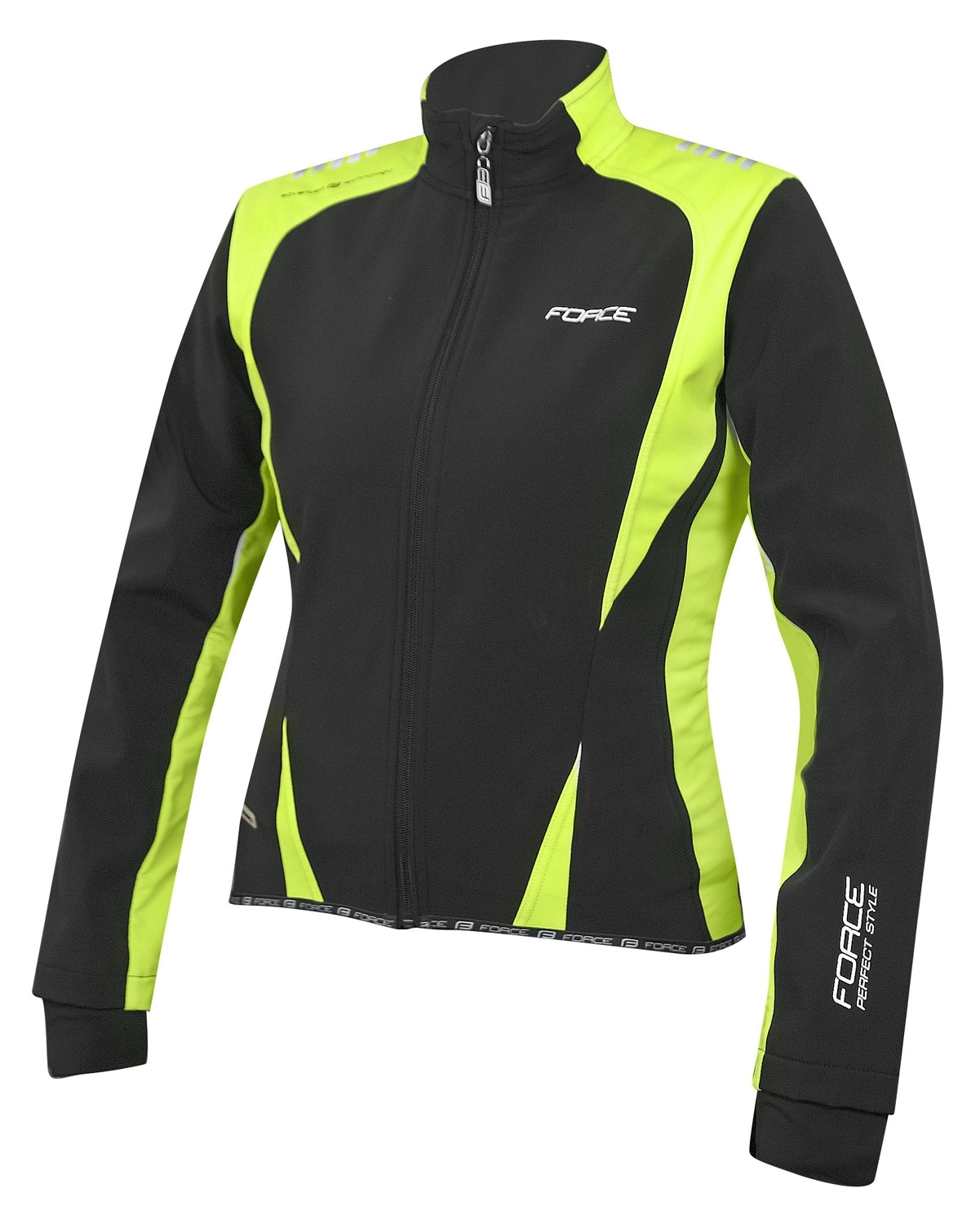 bunda FORCE X71 LADY softshell, černo-fluo XS