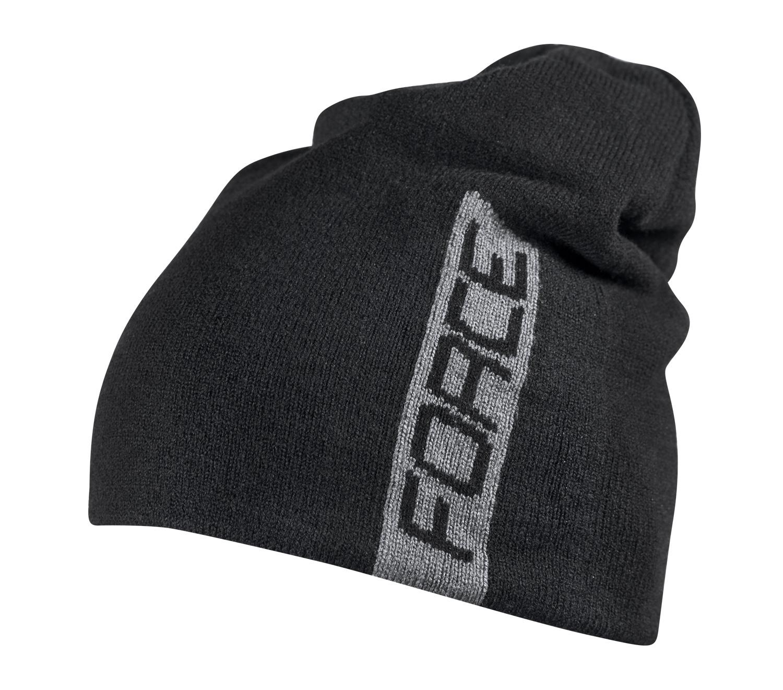 čepice zimní FORCE ELF pletená černá
