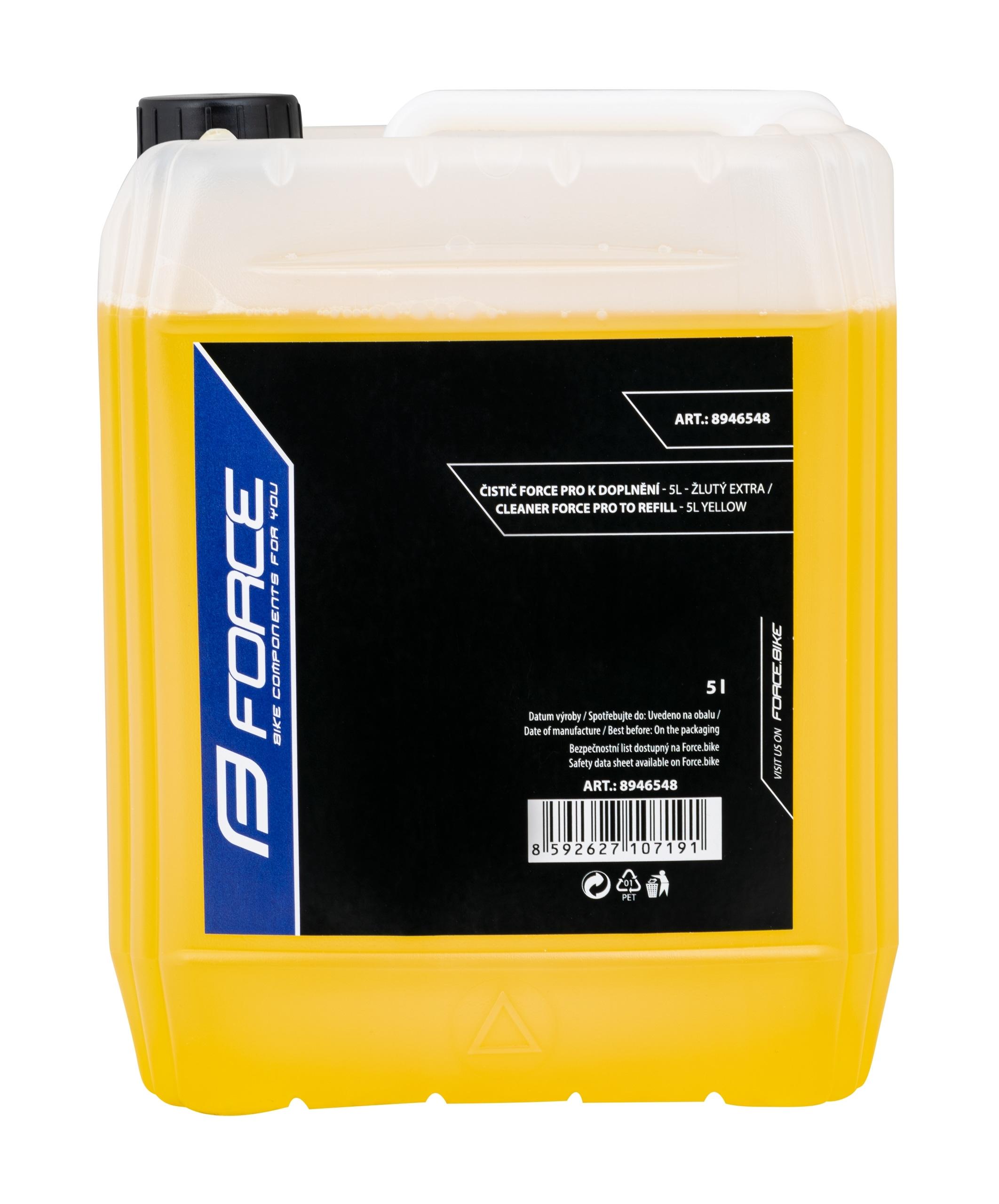 čistič FORCE PRO k doplnění - 5l - žlutý EXTRA