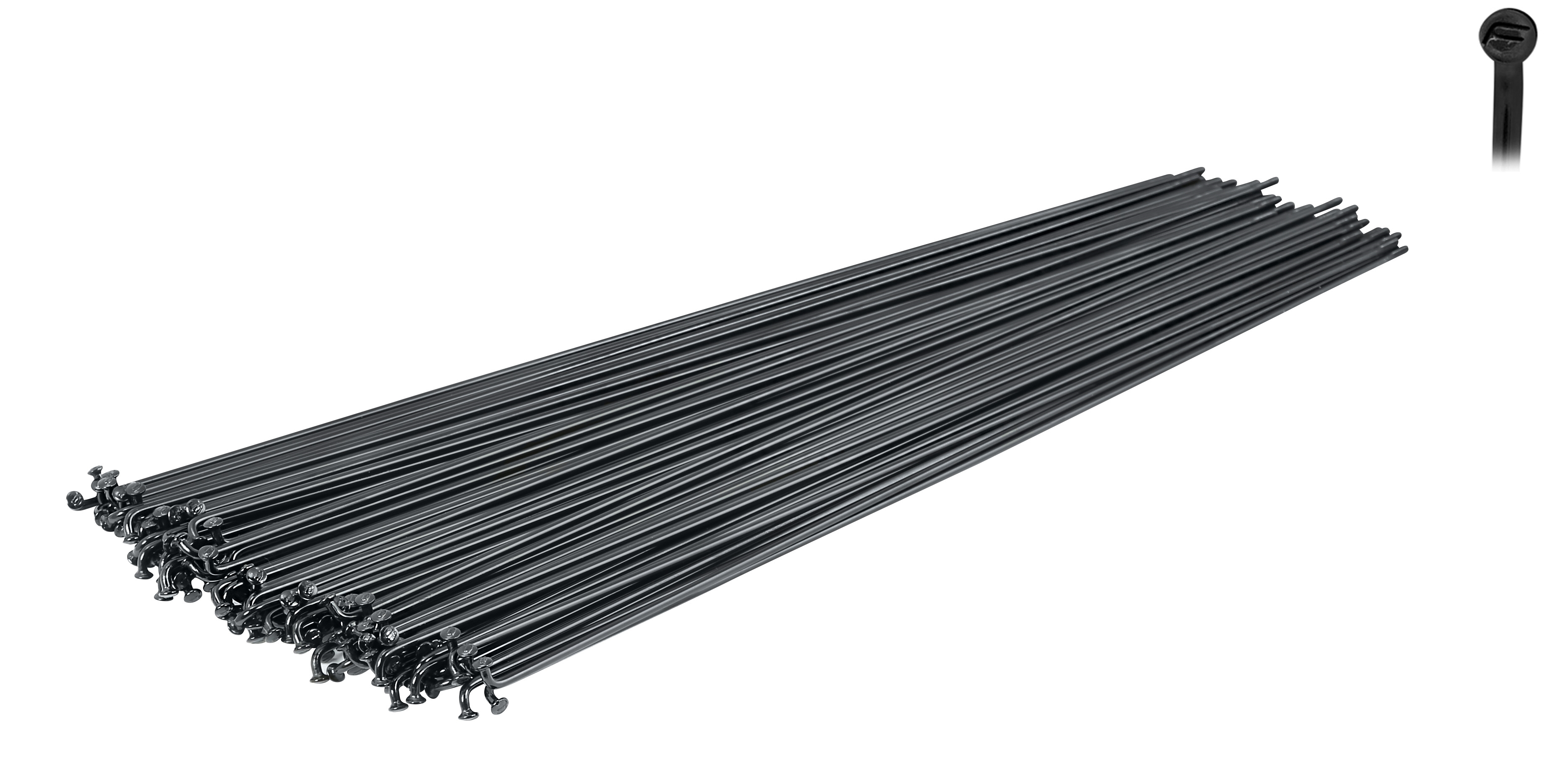dráty FORCE nerez černé 2 mm x 288 mm