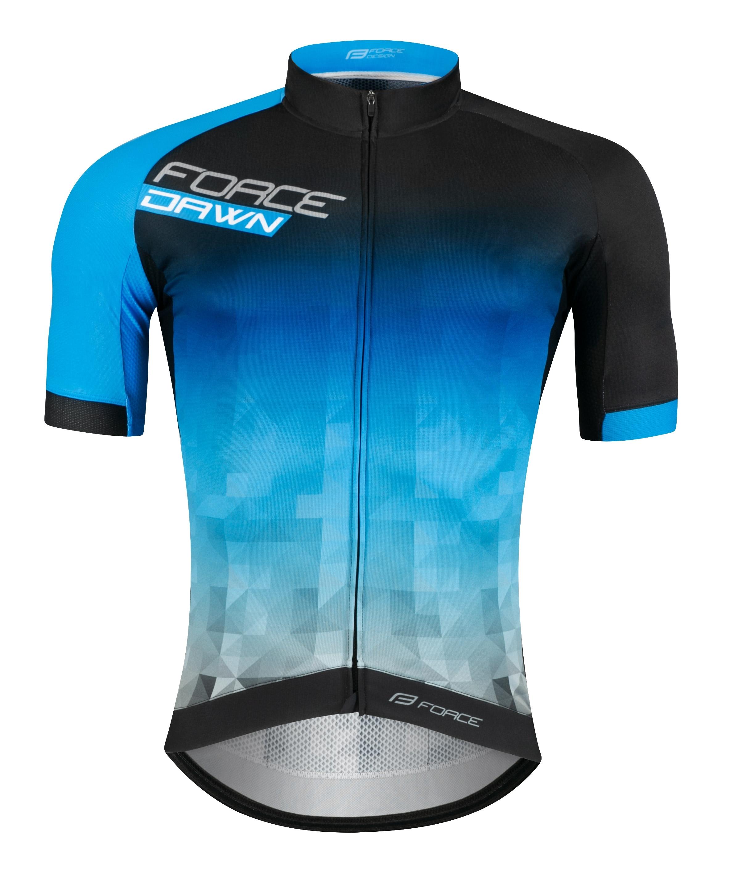 dres FORCE DAWN krátký rukáv černo-modrý XL