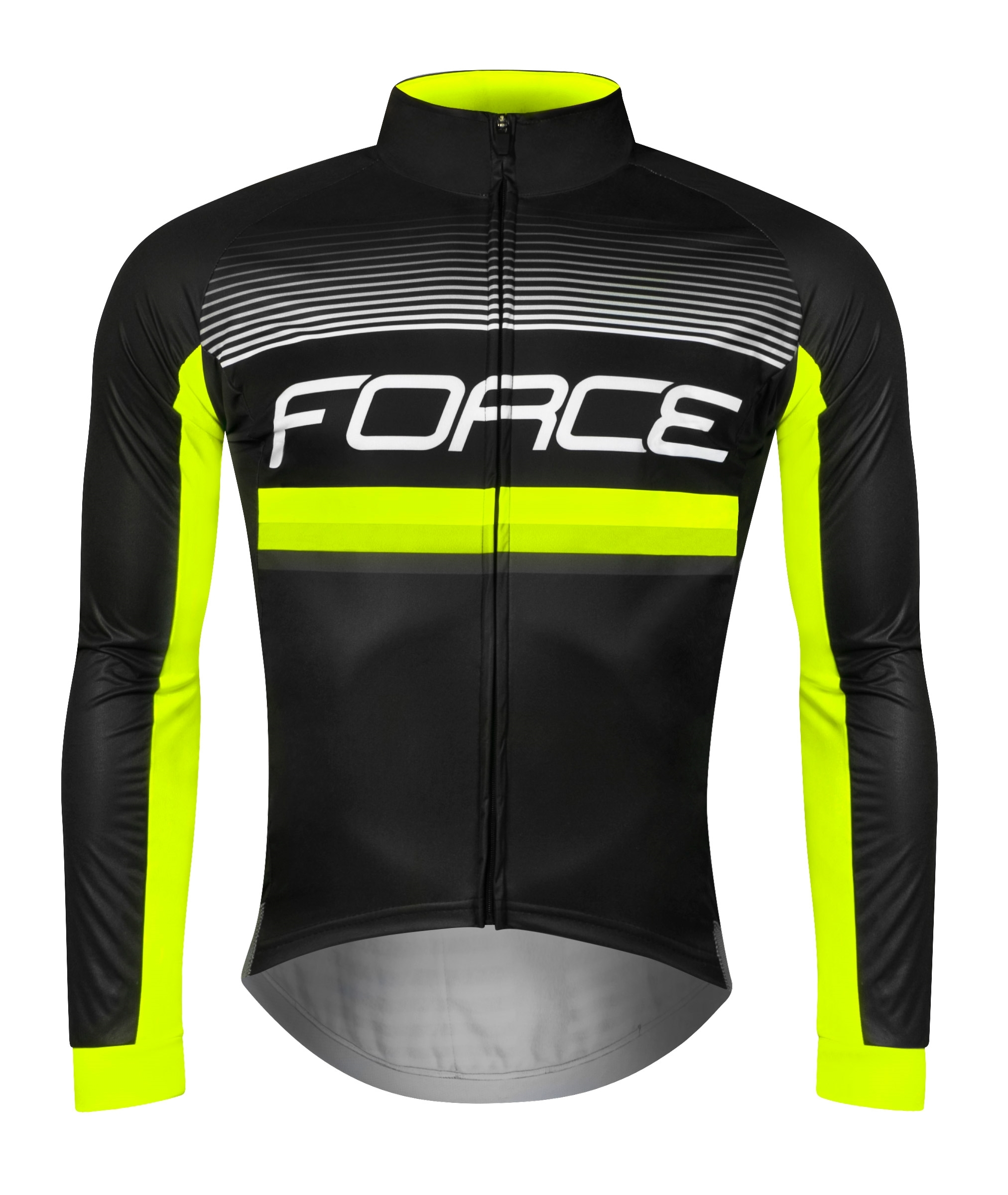dres FORCE DRIFT Wind dlouhý rukáv, černý XL