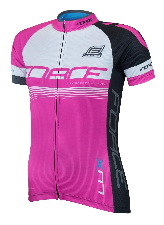dres FORCE LUX dámský krátký rukáv růžový L
