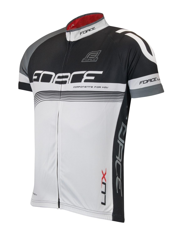 dres FORCE LUX krátký rukáv černo-bílý S