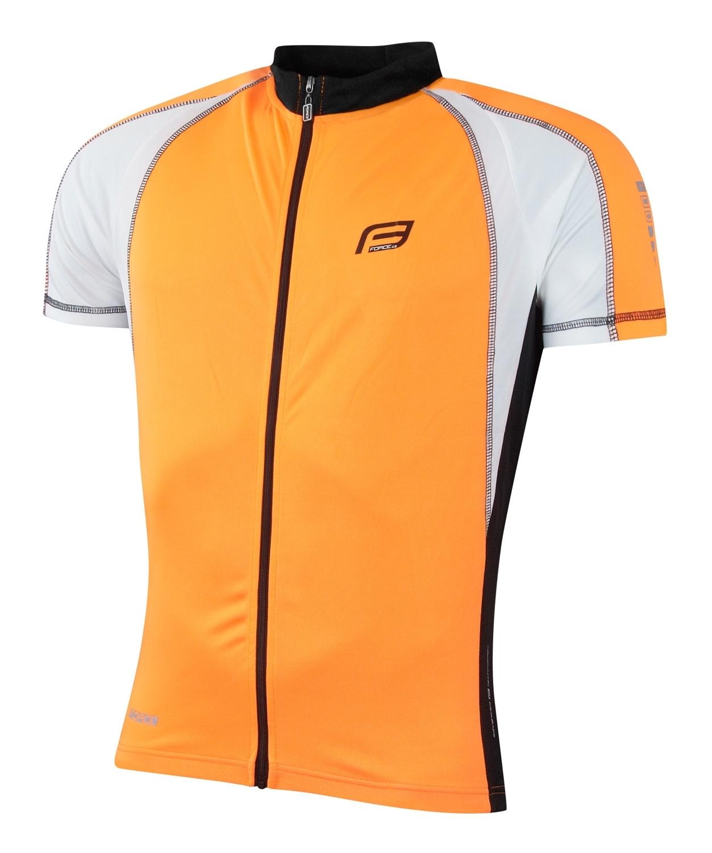 dres FORCE T10 krátký rukáv, oranžovo-bílý XS