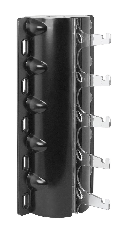 držák brýlí-5ks na skřín FORCE, černý plast