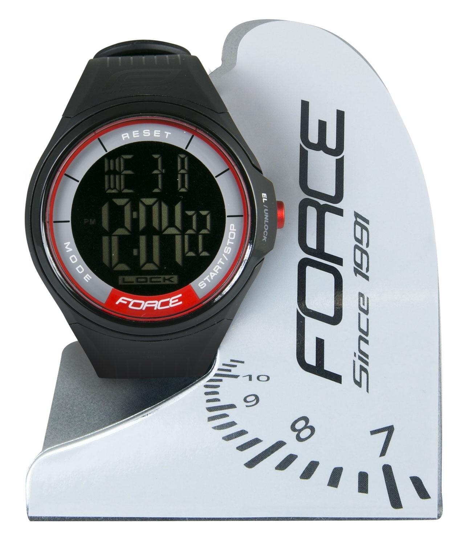 hodinky FORCE DIGI, černo-červené