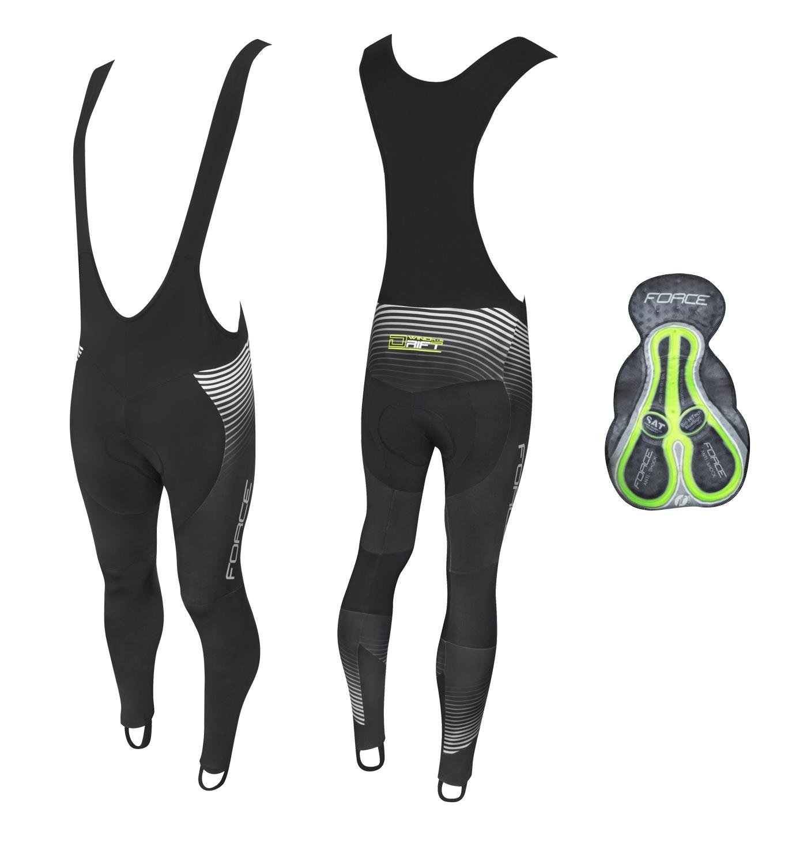 kalhoty F DRIFT WIND se šráky a vložkou,černé XXXL