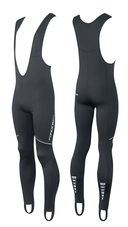 kalhoty FORCE Z68 se šráky bez vložky, černé M
